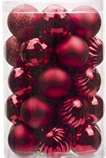34ct Christmas Ball Ornaments Shatterproof Christmas Decorations